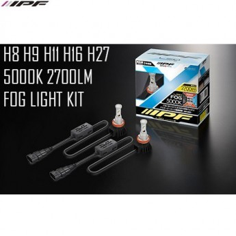 LED konvertering IPF H8 / H9 / H11 / H16 / H27 5000K 12W LED konverteringskit 12V