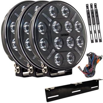 3-PACK SEEKER PLUS 12X 60W LED extraljus paket