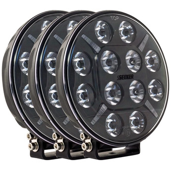 3-PACK SEEKER 12X 60W LED extraljus paket