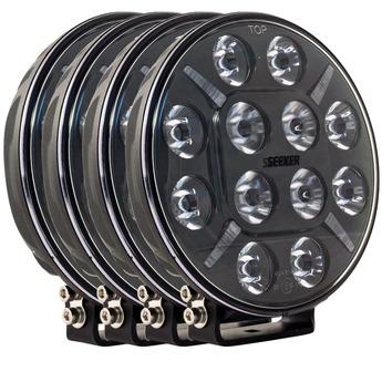 4-PACK SEEKER 12X 60W LED extraljus paket