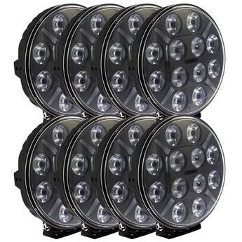 8-PACK SEEKER 12X 120W LED extraljus paket