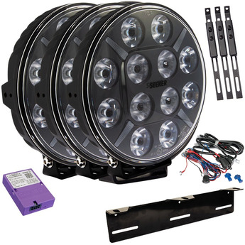 3-PACK SEEKER 12X 120W LED extraljus paket till Canbus