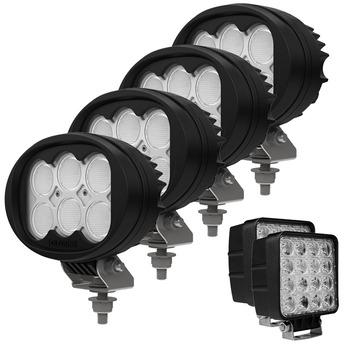 4-PACK Oledone Osram LED arbetsbelysning paket 7200 lumen
