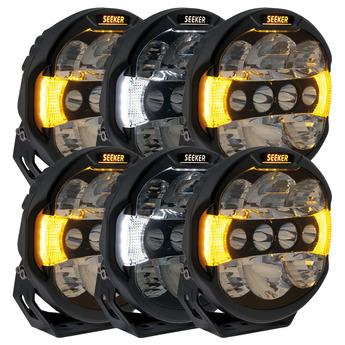 "6-pack SEEKER QUANTUM LED Extraljus 9"" tum"