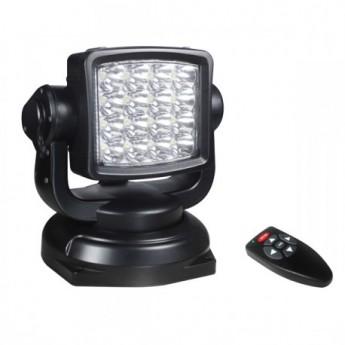 LED Sökarljus 80W Spot, Svart båtlampa med fjärrkontroll