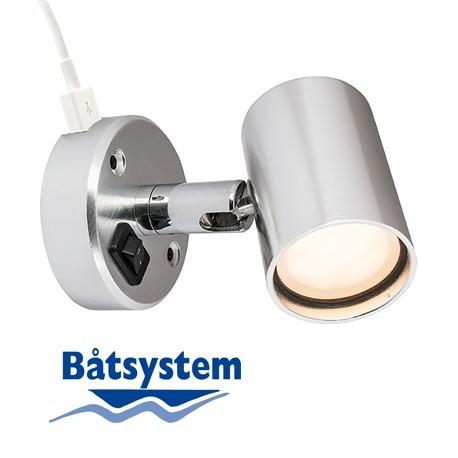 Läslampa till båt Tube D1 USB