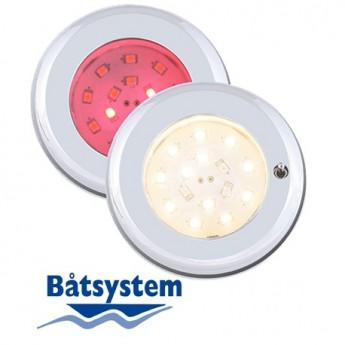 Nova, brytare röd-vit LED Spotlight Båt