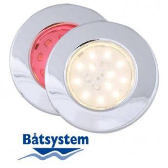 Pinto röd-vit LED Spotlight Båt