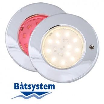Pinto, brytare, röd-vit LED Spotlight Båt