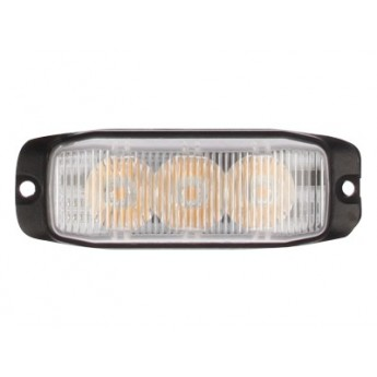 LED Blixtljus Supervision 3LED Slim, Kraftfullt gult sken