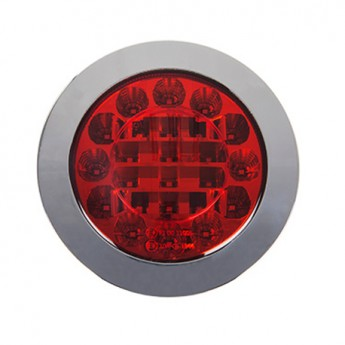 LED-Dimbakljus, Rund, Krom, ADR