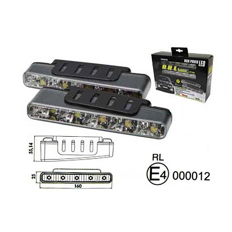 Varselljus DRL 5LED RL