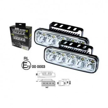 Varselljus DRL 5LED RLW