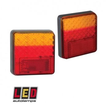 LED bakljus, Blinker, Broms, Positionsljus