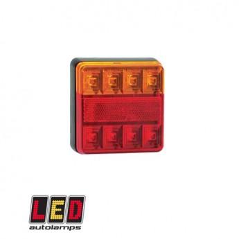 Baklampa LED Kompakt, Blinker, Broms, Positionsljus