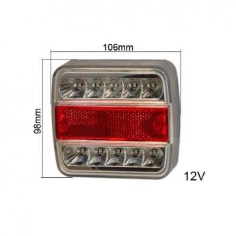 LED bakljus Körrikt.visare, Broms, Positionsljus till Lastbil & Släpvagn