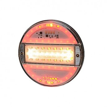 LED bakljus Klart glas, backnings- och dimljus till Lastbil & Släpvagn