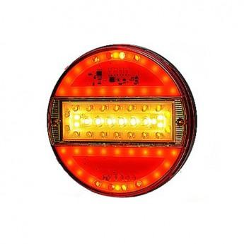 LED bakljus Slim Line, Färgat glas till Lastbil & Släpvagn