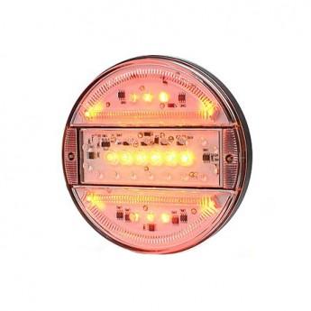 LED bakljus Slim Line, Körriktningsvisare, Klart glas till Lastbil & Släpvagn