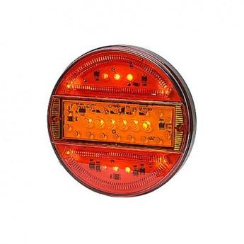LED bakljus Slim Line, Körriktningsvisare, Färgat glas till Lastbil & Släpvagn