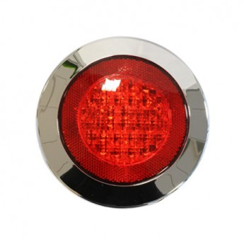 LED-Dimbakljus, Rund, Krom