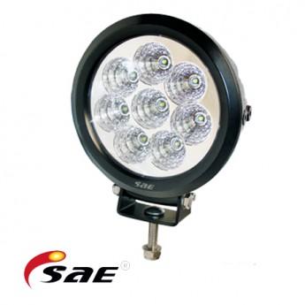 10-PACK LED Arbetsbelysning SAE RQ 80W, Rund