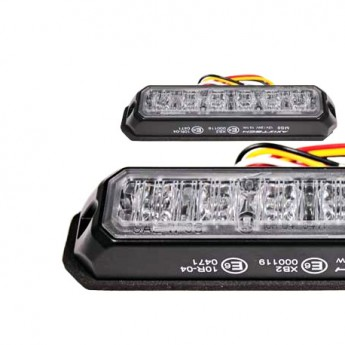 LED Blixtljus Axixtech 6LED MS6, ECE-R65 Godkänd