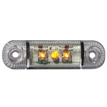LED-markörljus 3LED, Transparent Gul