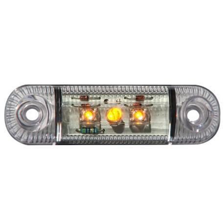 LED-markörljus 3LED, Transparent, Positionsljus, Gul