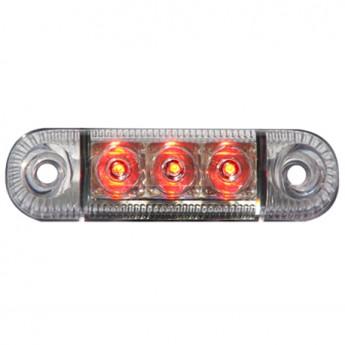 LED-markörljus 3LED Transparent, Positionsljus, Röd