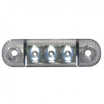 LED-markörljus 3LED Transparent, Positionsljus, Vit