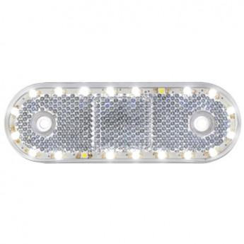 LED-markörljus med reflex CL, Positionslykta, Vit