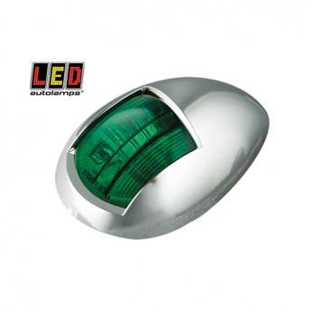 LED Autolamps lanterna, Grön, Krom