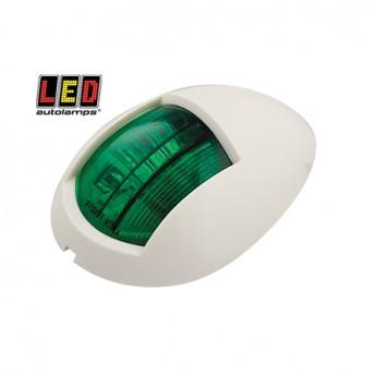 LED Autolamps lanterna, Grön, Vit