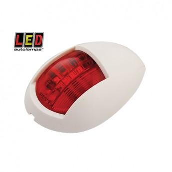 LED Autolamps röd lanterna, Röd, Vit