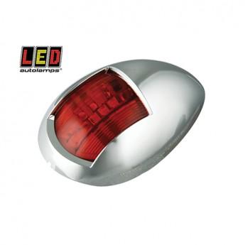 LED Autolamps röd lanterna, Röd, Krom
