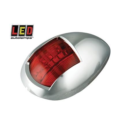 LED Autolamps röd lanterna, Krom