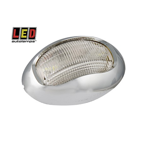 LED Autolamps vit lanterna, Krom