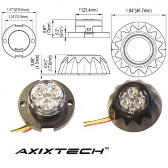 LED Blixtljus Axixtech BK Slim, ECE-R65 Godkänd
