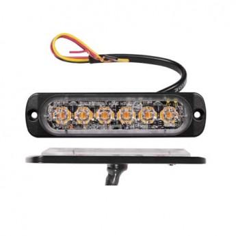 LED Blixtljus Axixtech 6LED Slim, ECE-R65 Godkänd