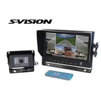 Backkamerasystem S-Vision 7-tumsskärm CK1