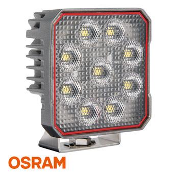LED arbetsbelysning 54W, Osram, Kvadrat, Grå