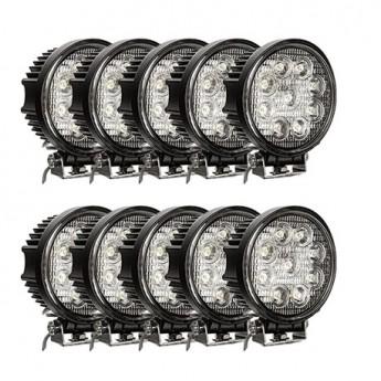 LED arbetsbelysning 10-PACK Svealux Classic Rund 27W