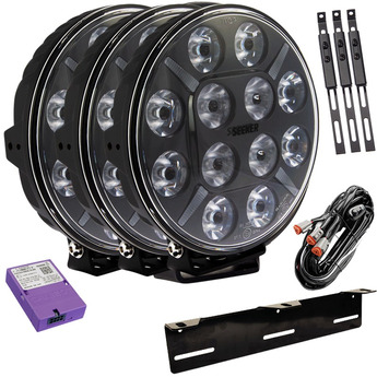 3-PACK SEEKER 12X 120W LED extraljus paket till Canbus