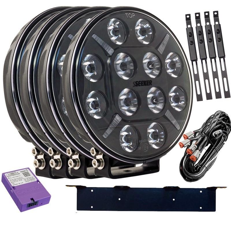 4-PACK SEEKER 12X 60W LED extraljus paket till Canbus