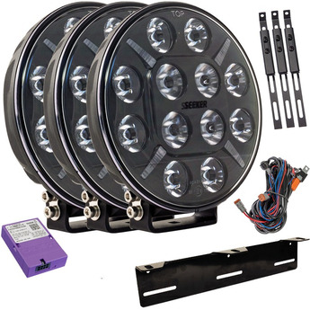 3-PACK SEEKER PLUS 12X 60W LED extraljus paket till Canbus