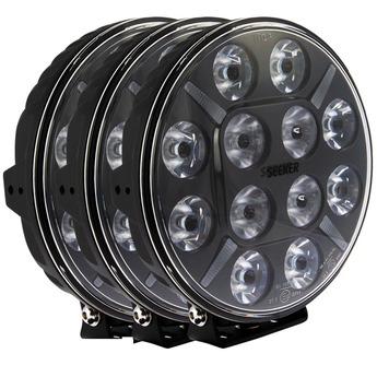3-PACK SEEKER 12X 120W LED extraljus paket