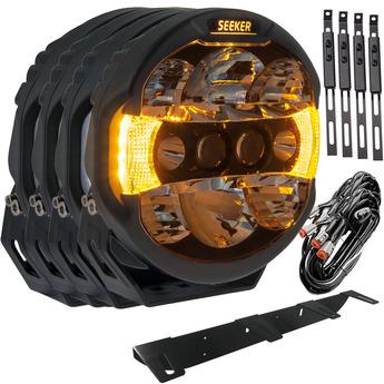 "4-PACK SEEKER QUANTUM LEDZER LED Extraljus 9"" tum"