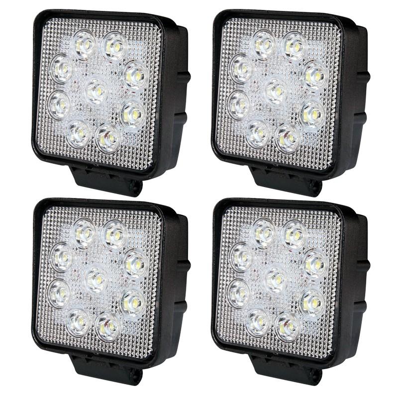 4-PACK LED arbetsbelysning paket 27W