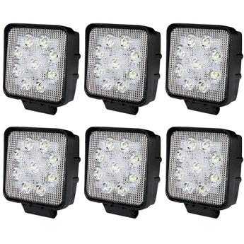 6-PACK LED arbetsbelysning paket 27W